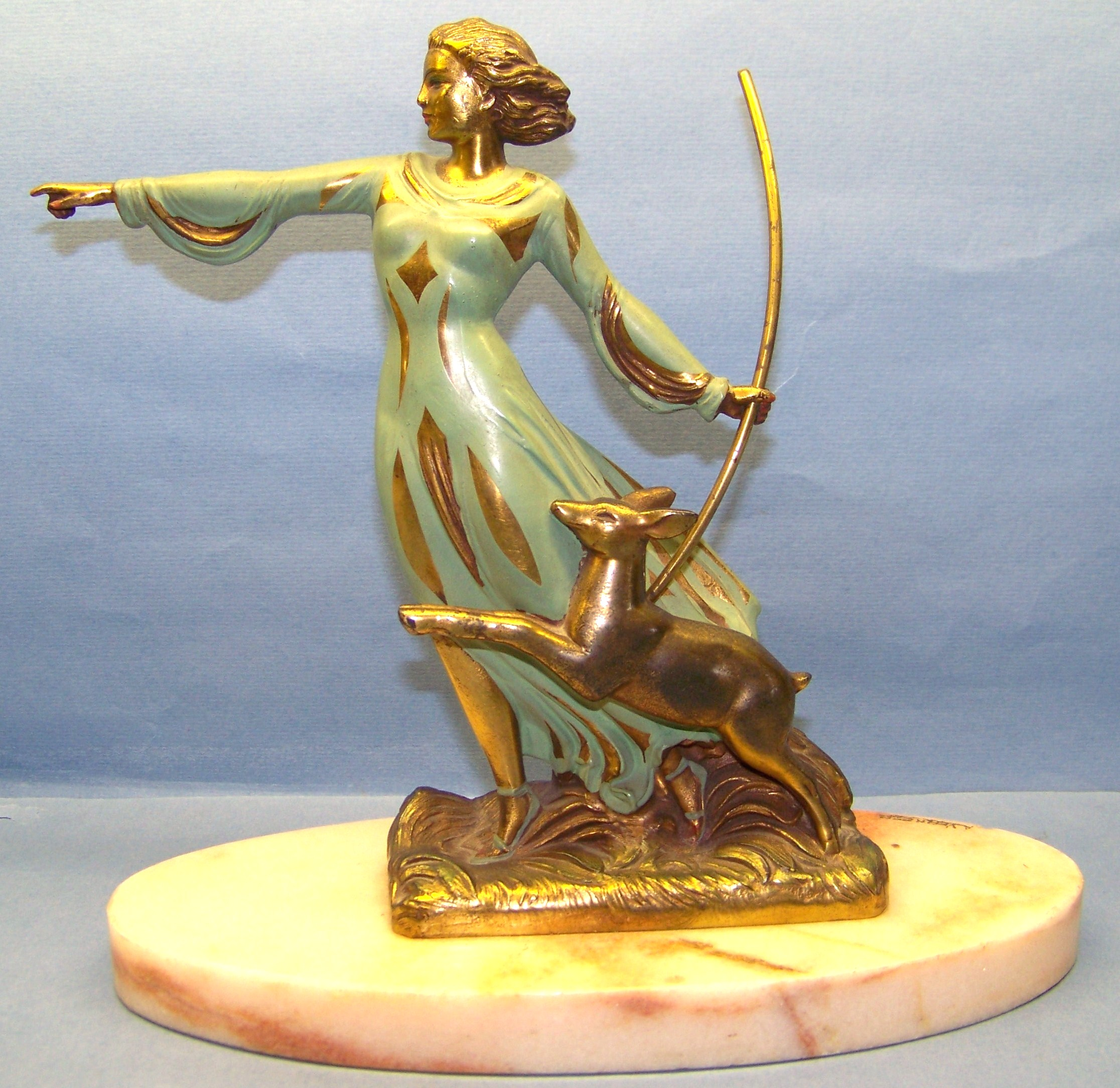 Art Deco Bronze of Diana
